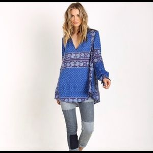Free People Changing Times Boho Floral Print Tunic